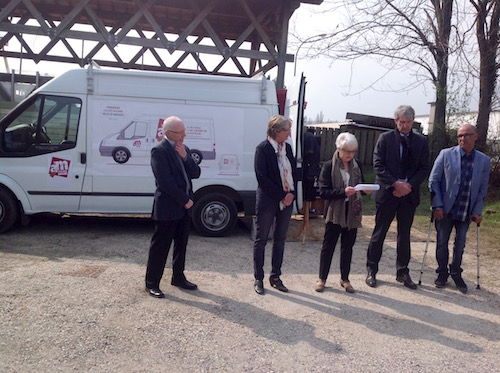 inauguration du camion