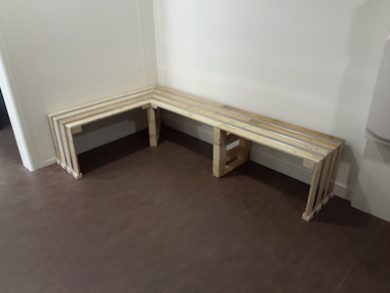 banc bois métal Image