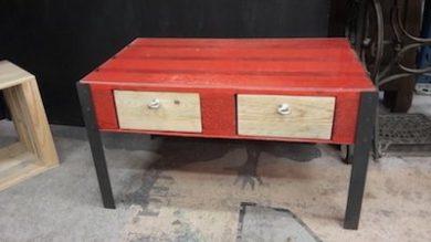 table basse 2 tiroirs Image