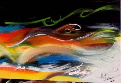 vagues abstraites Image